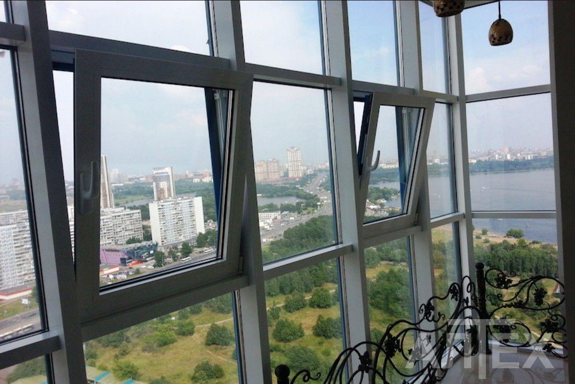 Остекление балконов алюминиевым профилем alumgrad.